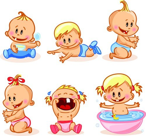 cartoon-baby-funny-vector-material-03.jpe