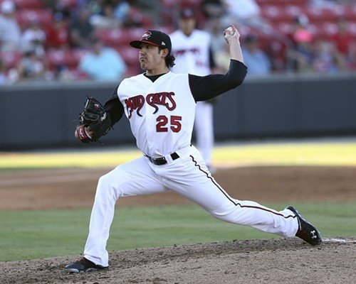 Mudcats ace Shawn Morimando responded with a quality start Saturday night.