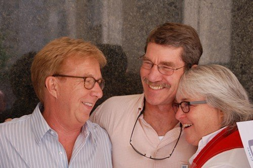 Dave Parnell (left) and Jeff Evans of Raleigh were married in Vermont. The Rev. Nancy Petty is their pastor.