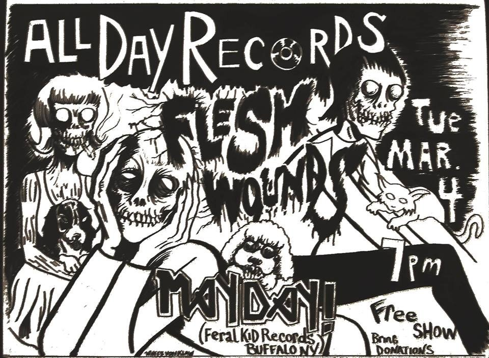 Tonight Flesh Wounds With Mayday At All Day Records