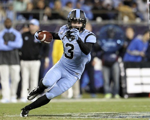 UNC's Ryan Switzer runs for daylight after a reception.