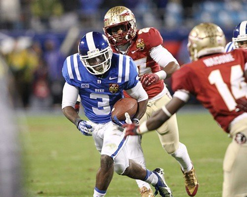 Jamison Crowder runs against Florida State in the ACC Championship Game.