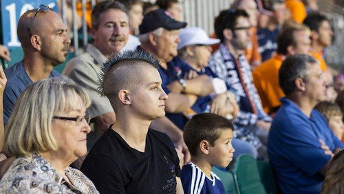 Stephen Bickford, watching the Galaxy play the RailHawks