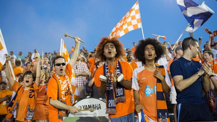Part of the 8,121 who cheered the Carolina RailHawks to victory over the L.A. Galaxy in the U.S. Open Cup