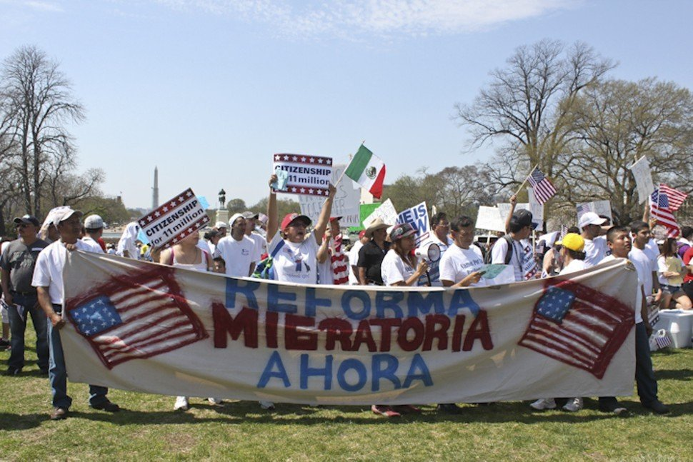 Undocumented N.C. farmworker Elvis Ordoñez took marched at an immigration reform rally in Washington, D.C., where he took this photograph