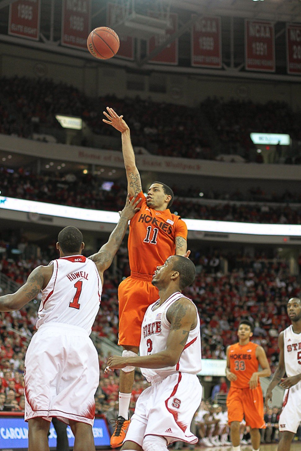 Virginia Techs Erick Green reaches for two of his game-high 29 points against N.C. State