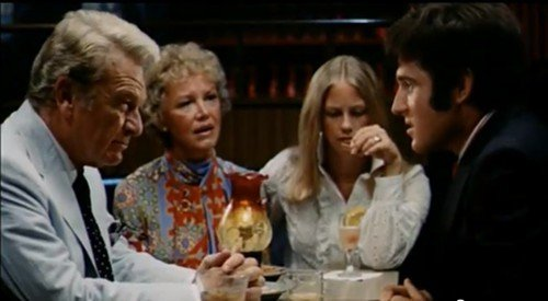 (L-R) Eddie Albert, Audra Lindley, Cybill Shepherd and Charles Grodin in THE HEARTBREAK KID
