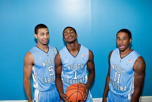 Three guards, three outcomes from  2010-11 season. Only Dexter Strickland, center, remains with the Tar Heels.