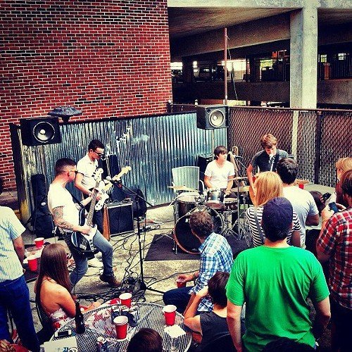 Last Years Men play behind Slims at Hopscotch 2012. Image courtesy of the band.