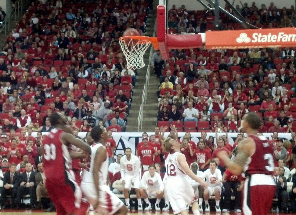 Freshman Tyler Lewis sneaks a peek at his layup during N.C. States 97-59 win over Miami (Ohio) Friday in Raleigh
