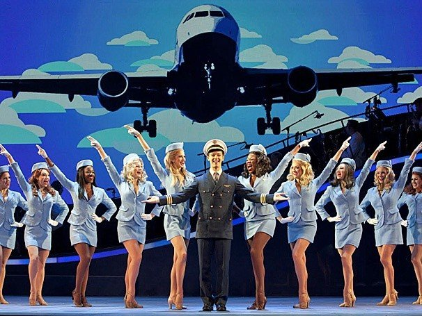Frank Abagnale (Stephen Anthony) and friends, in Catch Me If You Can
