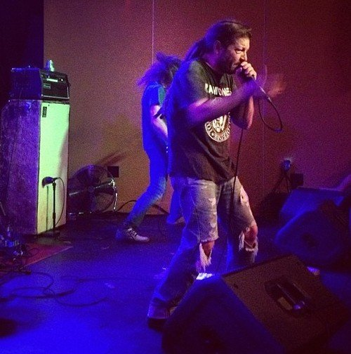 Keith Morris of OFF!, onstage in Raleigh