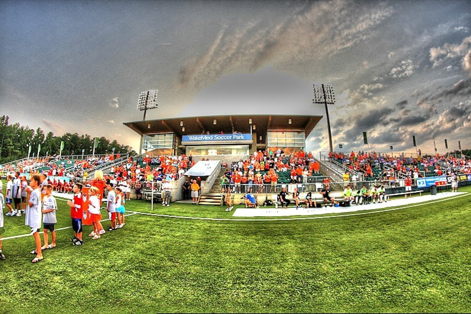 WakeMed Soccer Park, in wide angle