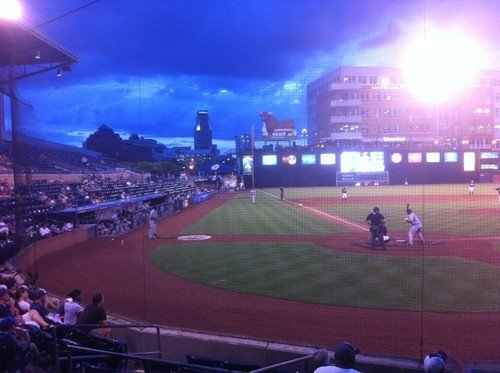 Bulls-Clippers, the DBAP, around 8:15pm last night.
