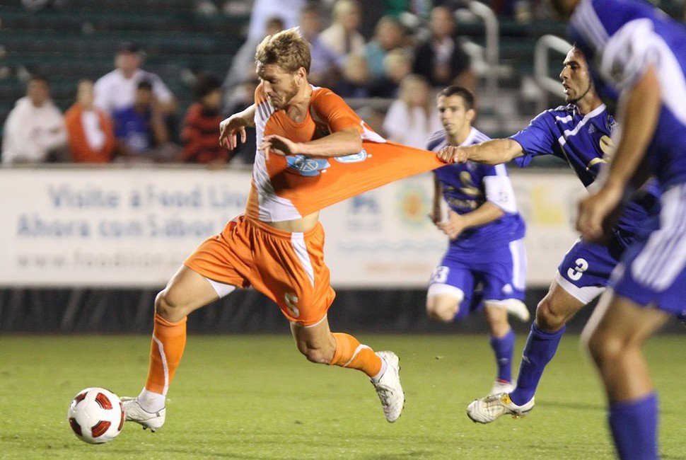 Floyd Franks, seen playing with the RailHawks in 2010