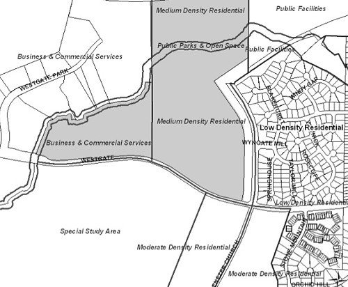 The shaded area north of Wyngate Road would be a dump site