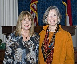 NC Poet Laureate Cathy Smith Bowers with Regan, 2010
