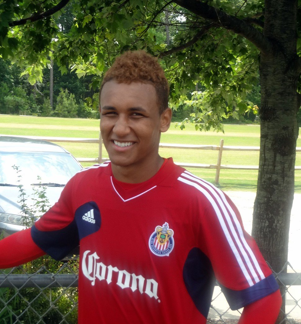 Juan Agudelo after Mondays Chivas USA training session for their U.S. Open Cup match against the Carolina RailHawks