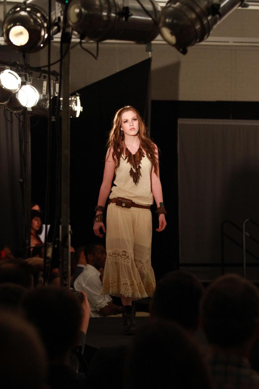 Model Ashton Edens takes the runway wearing SSD Jewelry.