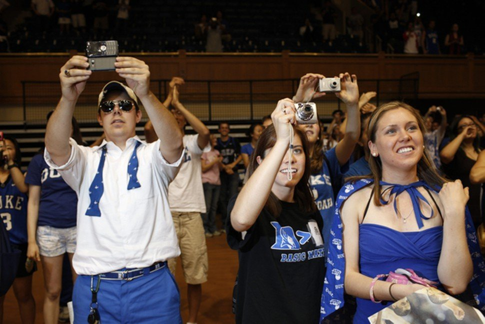 Duke fans in April 2010, after watching the NCAA title game versus Butler