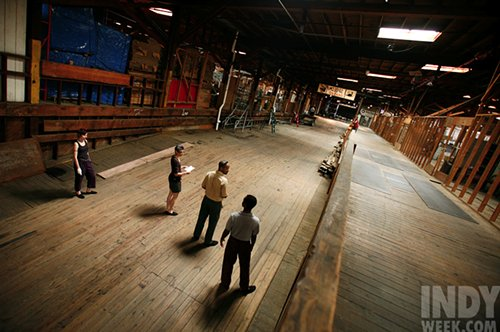 In 2008, actors used a portion of the Liberty Warehouse as a rehearsal space.