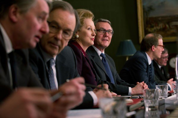 Meryl Streep as Margaret Thatcher and Anthony Head as Geoffrey Howe