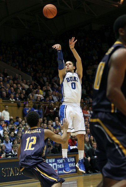 Austin Rivers transitions a shot versus UNC-G.