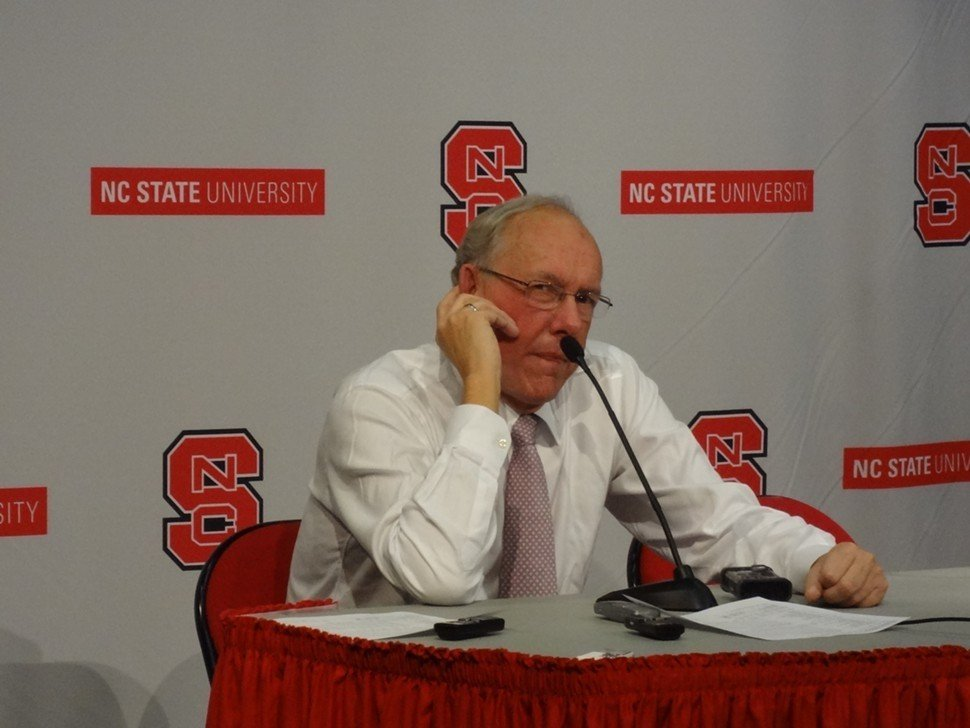 Jim Boeheim muses for the media following Syracuses 88-72 win over N.C. State