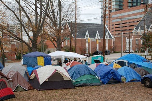 The OccupyRaleigh encampment as it looked a week ago