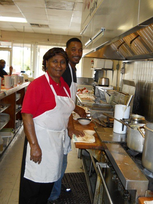 Owners Carolyn Artis and Tyron Pearce at The Coffee Pot in Smithfield