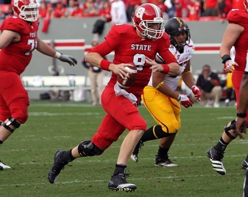 N.C. State quarterback Mike Glennon was 36 for 55 in passing and threw for five touchdowns.