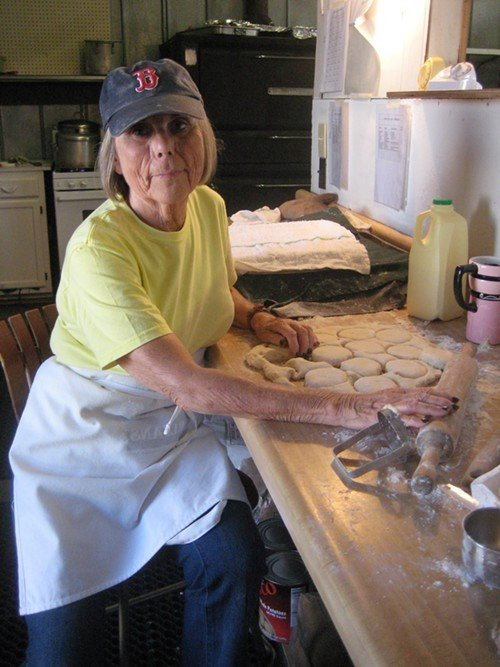 Judy Caves arrives at 6:30 a.m. each day of the North Carolina State Fair to make biscuits for St. Pauls.