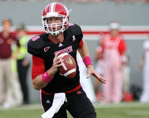 NC State quarterback Mike Glennon completed 20 of 36 passes for 244 yards and four touchdowns.