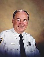A campaign photo of Sheriff Worth Hill.