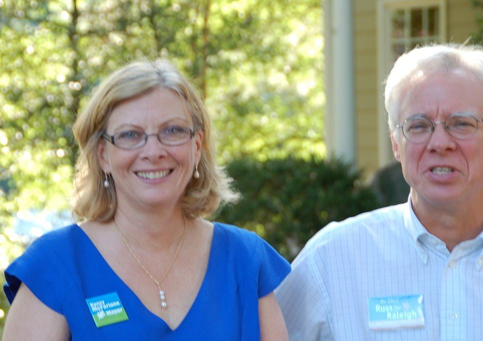 Raleigh Councilors Nancy McFarlane and Russ Stephenson