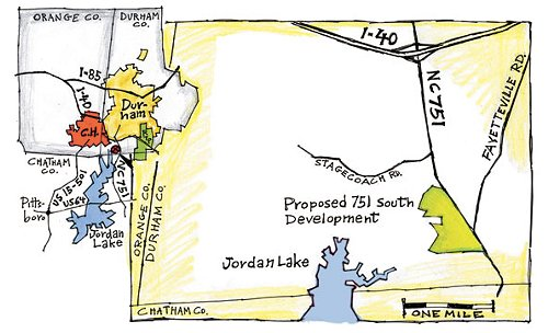 map of proposed 751 South site