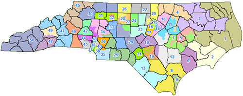 Proposed new Senate districts