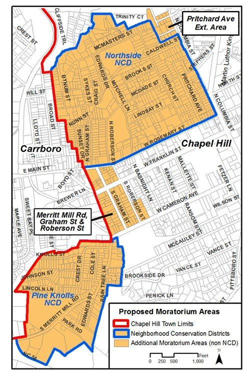 This map outlines the area that will be subject to the moratorium.