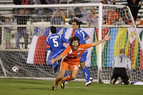 Tommy Heinemann celebrates his controversial winner against Montreal in the 2010 playoffs.