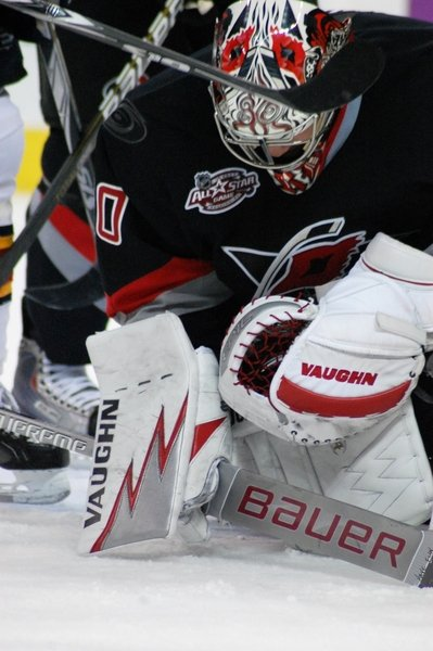 Cam Ward shut out the Ottawa Senators 4-0 Wednesday night.