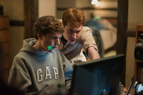 Jesse Eisenberg (left) and Joseph Mazzello in The Social Network