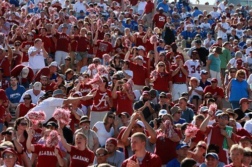 Nearly 20,000 Alabama fans helped Duke fans fill Wallace Wade Stadium.