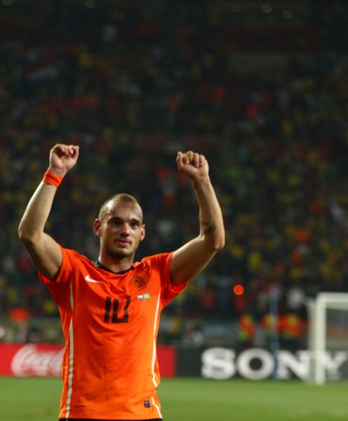 Wesley Sneijder of the Dutch