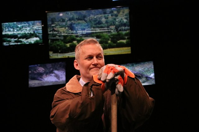 Michael Babbitt as President George W. Bush in the Burning Coal Theatre Company production of David Hare's Stuff Happens (photo by Areon Mobasher).jpg
