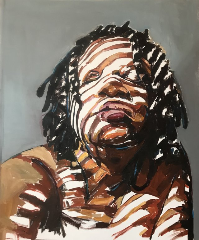 Whatever Might Rise by Beverly McIver oil on canvas 38 x 48 from the exhibition EYES WIDE SHUT Craven Allen Gallery.jpg