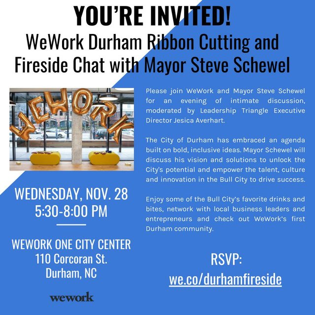 Wework Durham Fireside Chat Indy Week