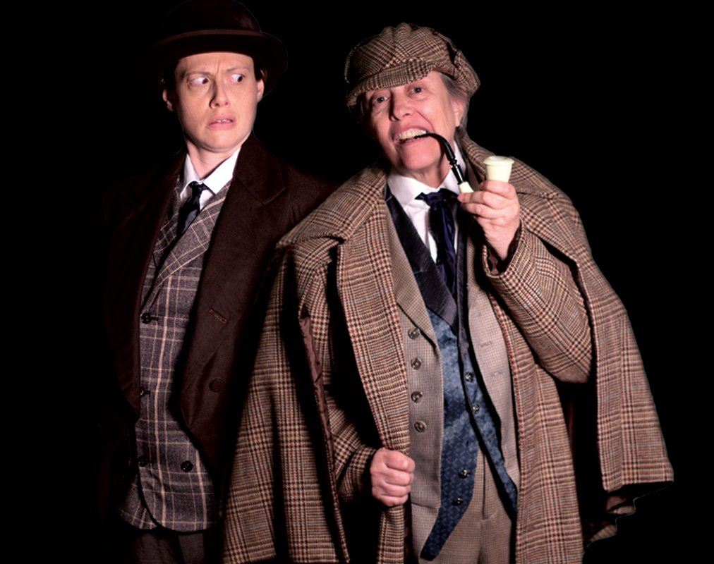 Three Actors Juggle Dozens of Roles in a Sherlock Holmes Tale So Frenetic the Stage Crew Takes Bows