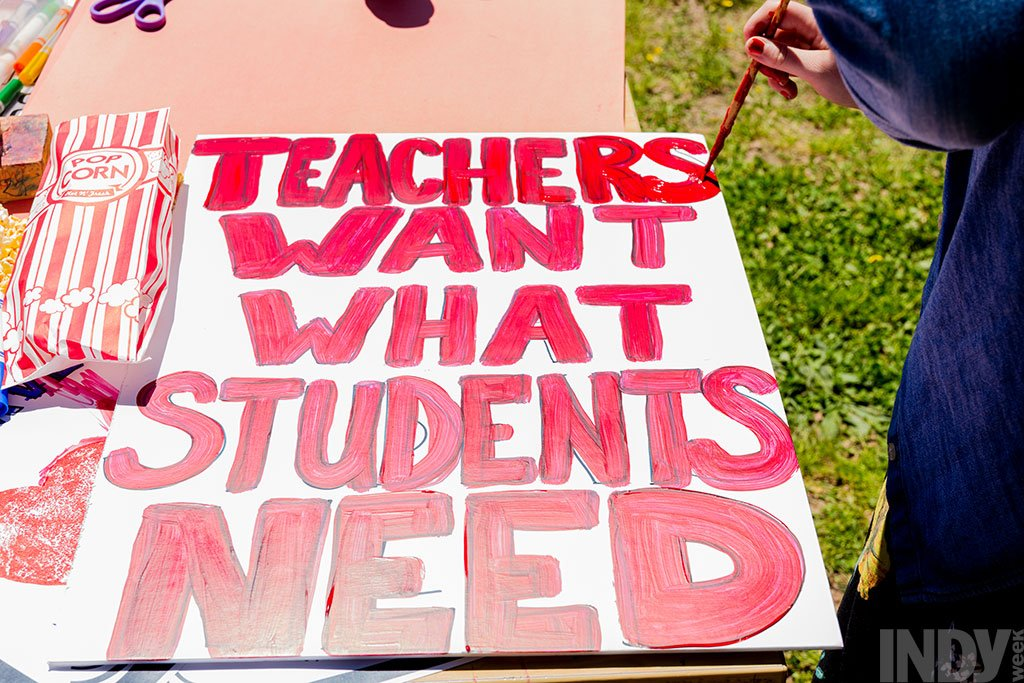 After Last Year's March on Raleigh, N C  Teachers Got a Raise
