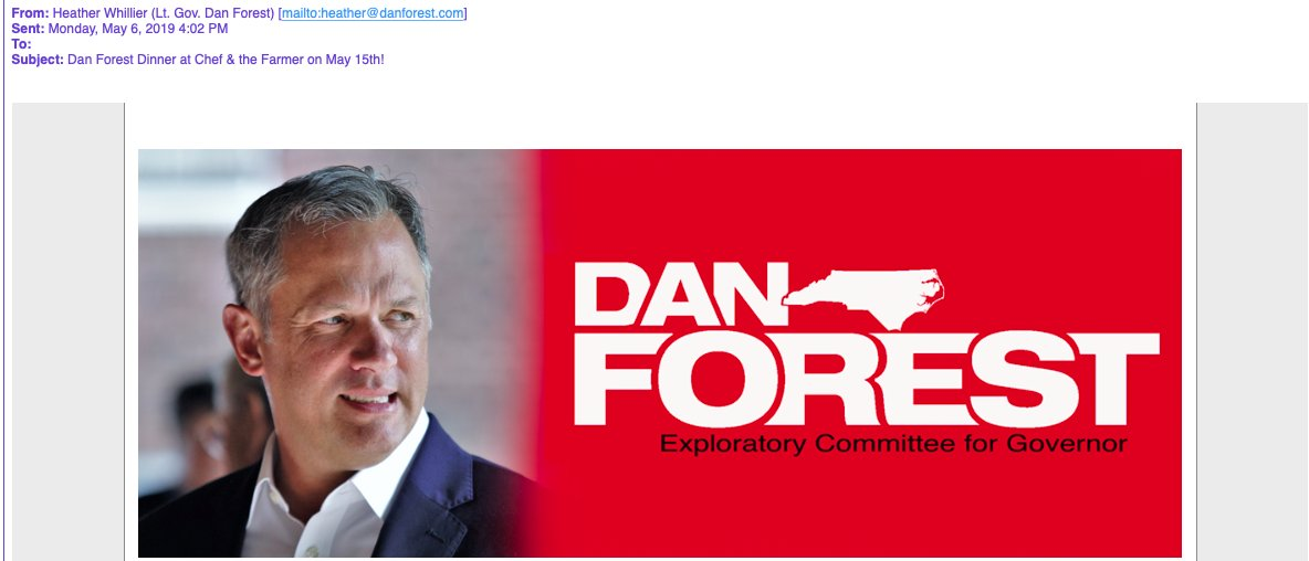 Vivian Howard's Attorney Told Dan Forest's Campaign To