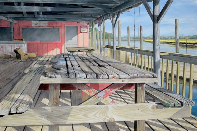 If Tables Could Talk by Tony Alderman acrylic on canvas for the show Waterline at Craven Allen Gallery.jpg